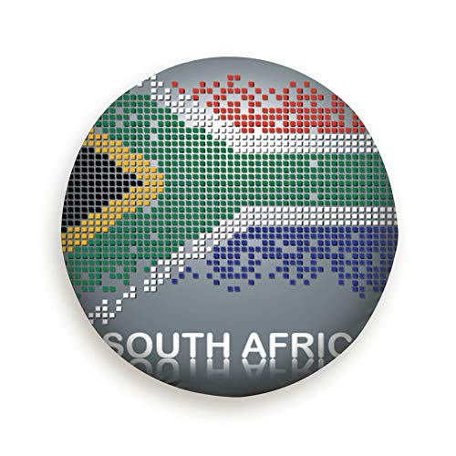 Flag South Africa Square Blocks Signs Symbols Cover with Elastic Hem-Durable Design Keeps Dirt, Rain, and Sun Away from Your Spare Tire 15inch