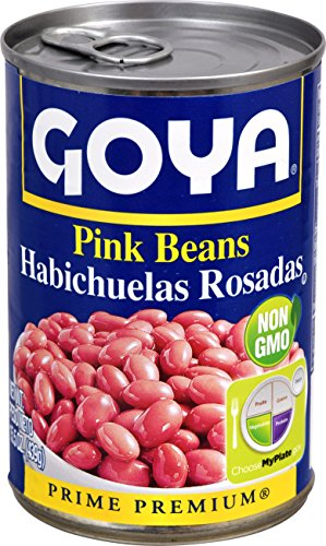 Goya Beans Canned - Goya Foods Pink Beans, 15.5 Ounce