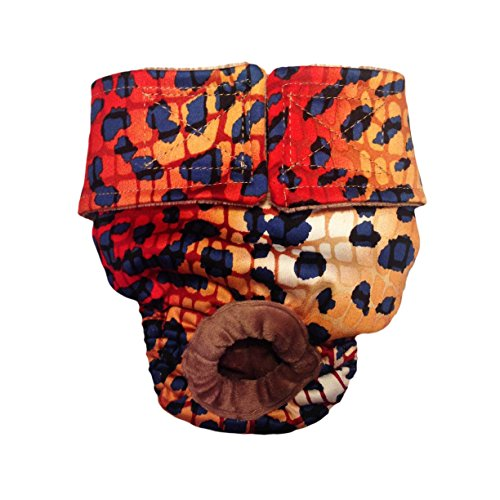 delicate Dog Diapers - Made in USA - Hot Cheetah Washable Dog Diaper for Incontinence, Housetraining and Dogs in Heat
