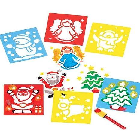Baker Ross Stampini Natalizi Lavabili Per Bambini Per Creare Decorazioni Fai Da Te Di Natale Set Da 6