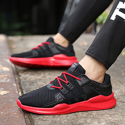 Running Fitness Course Athlétique Outdoor Trail Homme SUADEX Chaussures Noir rouge de Chaussures Multisports de Gym Sport Sneakers Baskets qvOFR