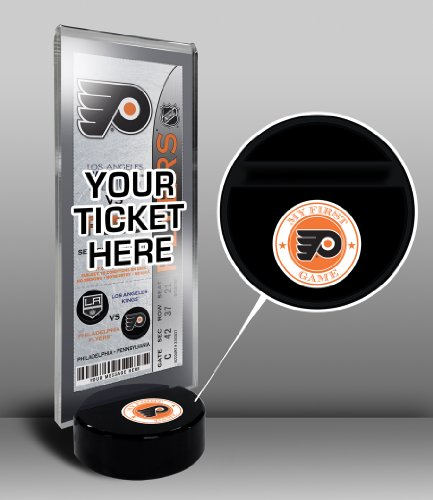 NHL Philadelphia Flyers My First Game Hockey Puck Ticket Stand, One Size, Multicolored -