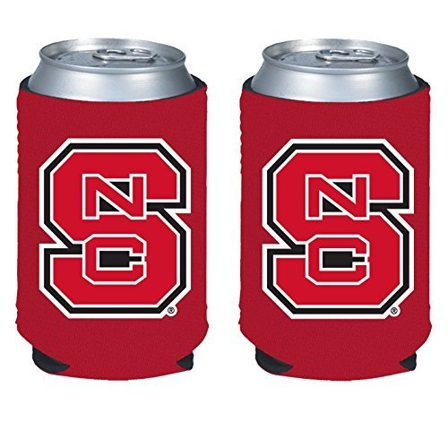 - NCAA College 2014 Team Logo Color Can Kaddy Holder Cooler 2-Pack (North Carolina State)