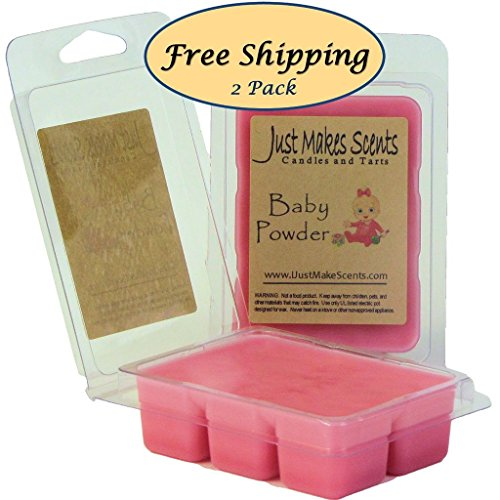 2 Pack - Baby Powder Scented Scented Soy Wax Melts by Just M