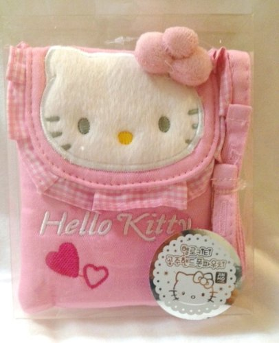 - Sanrio Hello Kitty Pouch with Strap - Pink (Great for Phone, Camera, MP3, Itouch etc)