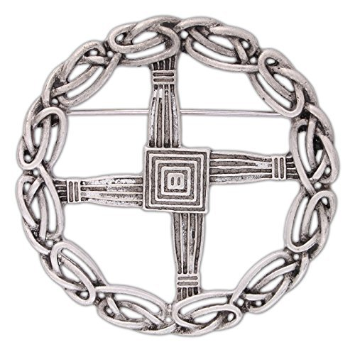 (Quantum Mfg Pewter St. Bridget's Cross Pin/Pendant)