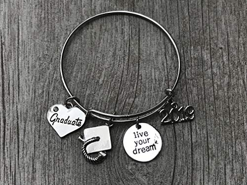 Infinity Collection Graduation Bangle Bracelet-Graduation Gift, for Graduates, Class of 2019 -