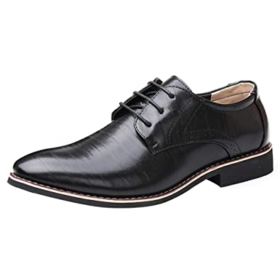 Yudesun Pointed Wedding Fashionable Leather Shoe - Lace Ups Shoes Men  Business Brogue Toe Derby Oxford 7cc5c3adb3ed