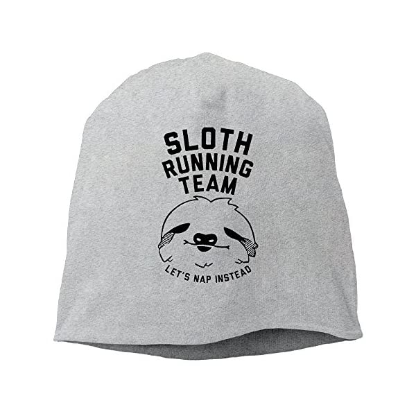 Sloth Running Team Tuke Wool Beanie Hat Knit Cap Ash -