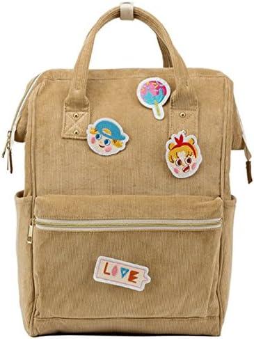 Color : Khaki Sweet Student Bag Female Shoulder Bag High Capacity Casual Traveling Backpack GJ Backpack