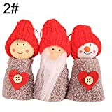 Dds5391 Novelty 3Pcs Pine Cone Doll Christmas Tree Hanging Pendant Ornaments Xmas Party Decor - 2#