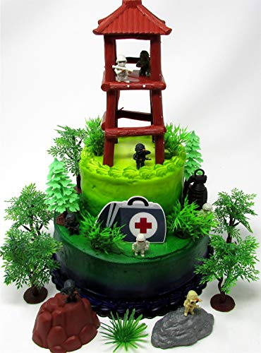 Battle Crusade Survival Royale Gaming Themed Cake Topper with Battle Figures and Resource Themed Accessories by Cake Toppers (Image #6)
