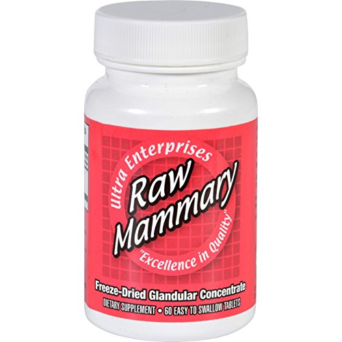 Ultra Glandulars Mammary - Raw - Freeze Dried Glandular Extract - Gluten Free - 60 Tablets (Pack of 2)