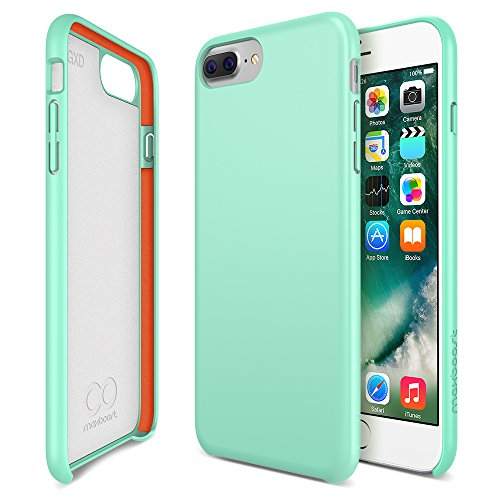 iPhone 8 Plus, 7 Plus, 6s Plus, 6 Plus Case, Maxboost [SnapPro Series] Apple iPhone 7 Plus Covers w/GXD Impact Gel Cushion [Mint] Shock-Absorption Protection Frame Enhanced Soft Touch Coating