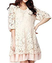 MTRNTY Women's Maternity Casual Flower Lace Summer Mini Dress 1018
