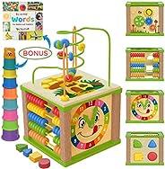 TOYVENTIVE Wooden Activity Cube - Parent