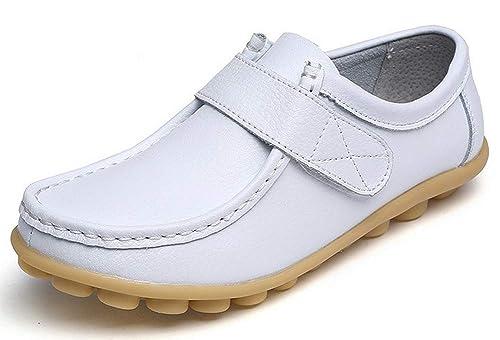 Yooeen Zapatos Mocasines Cómodos para Mujer Calzado de Trabajo Antideslizante Loafers Zapatos de Conducción: Amazon.es: Zapatos y complementos