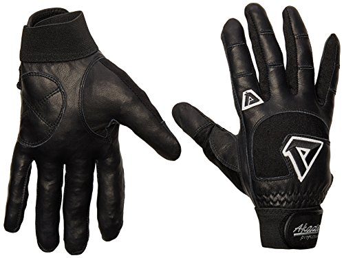 Akadema Professional Series - Akadema Professional Batting Gloves (Black, Large)