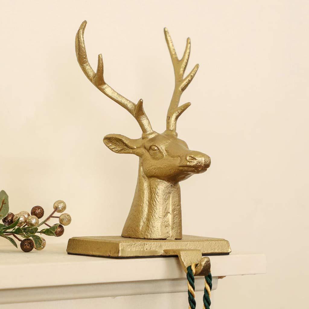 Dibor Cast Iron Antique Brown Christmas Pine Tree Stocking Holder Hanging Hook 1kg