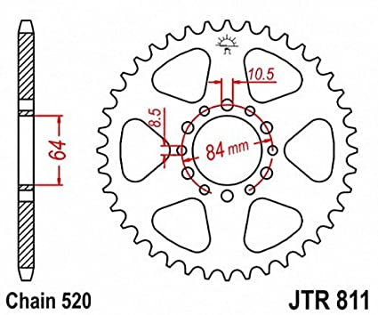 JT Sprockets JTR811.46 46T Steel Rear Sprocket JT81146