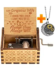 Levanco You are My Sunshine Wood Music Box, Laser Engraved Vintage Sunshine Wooden Musical Box, Gifts for Birthday/Christmas/Valentine's