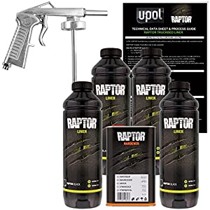1. U-POL Raptor Black Urethane Spray-On Truck Bed Liner Kit