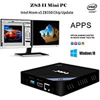 Mercu Edal Z83-II Mini PC Intel Atom x5-Z8350 Processor Intel HD Graphics 400, 2GB DDR3 + 32GB/ 1000Mbps LAN/ Dual-Band 2.4G+5.8G WiFi/ BT 4.0 Support Windows & Linux System