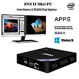 Mercu Edal Z83-II Mini PC Intel Atom x5-Z8350 Processor Intel HD Graphics 400, 2GB DDR3 + 32GB/ 1000Mbps LAN/ Dual-Band 2.4G+5.8G WiFi/ BT 4.0 Support Windows & Linux System