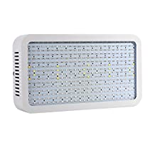 LVJING® New 400W Led Grow Light Panel with UV/IR Light, Full Spectrum, 400pcs 5730SMD Chip, AC 85~265V, Perfect Lighting for Greenhouse Hydroponics and Indoor Plant Flowering Growing