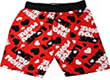 Fun Boxers Mens Fun Prints Boxer Shorts, Love You More, Large