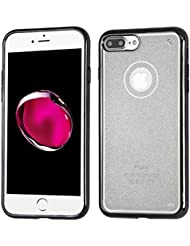 Asmyna Electroplated Premium Candy Skin Cover (with Package) for Apple iPhone 7 Plus - Black Sheer Glitter