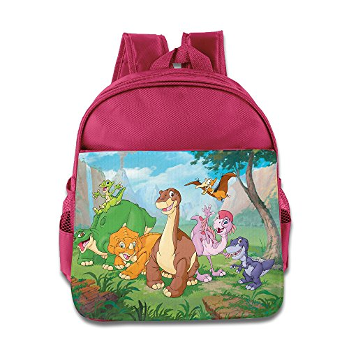 Cast Of The Land Before Time Kids School Backpack Bag Pink