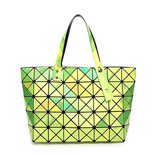 Girl BeautyWJY Messenger Mirror Bags Geometric Handbags Handbag Shoulder Rhombus Womens Green xErH4EqR