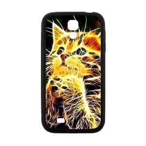 ZXCV Creative Abstract Cat Custom Protective Hard Phone Cae For Samsung Galaxy S 4