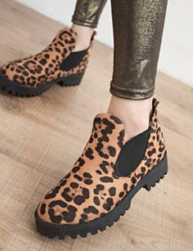 Estampado Redonda Eu36 Zapatos Botas Uk4 Negro Bajo us6 Uk6 A Xzz Mujer Punta Cn39 Cn36 Casual Animal Tejido Moda Leopard us8 Tacón Eu39 La De Black S6WggwdqY