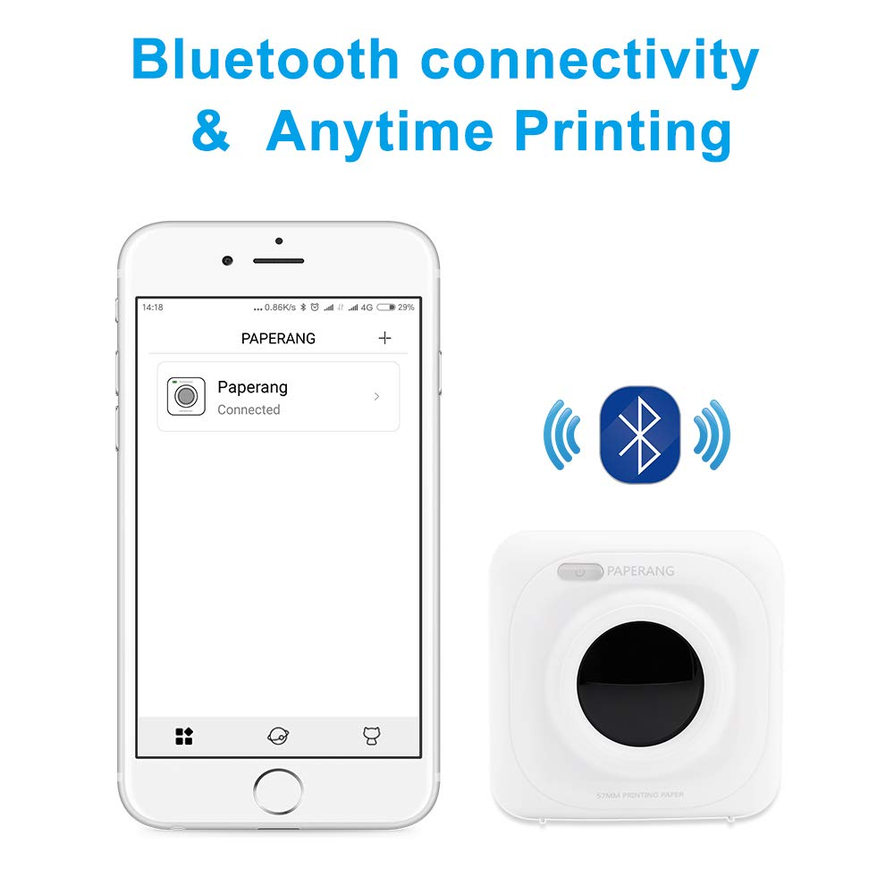 PAPERANG P1 White Mini Wireless Paper Photo Printer Portable Bluetooth Instant Mobile Printer for iPhone/iPad/Mac/Android Devices with Print Papers by Labelife (Image #4)