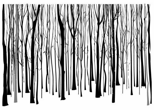 Hero Arts Winter Trees Pattern Woodblock Stamp