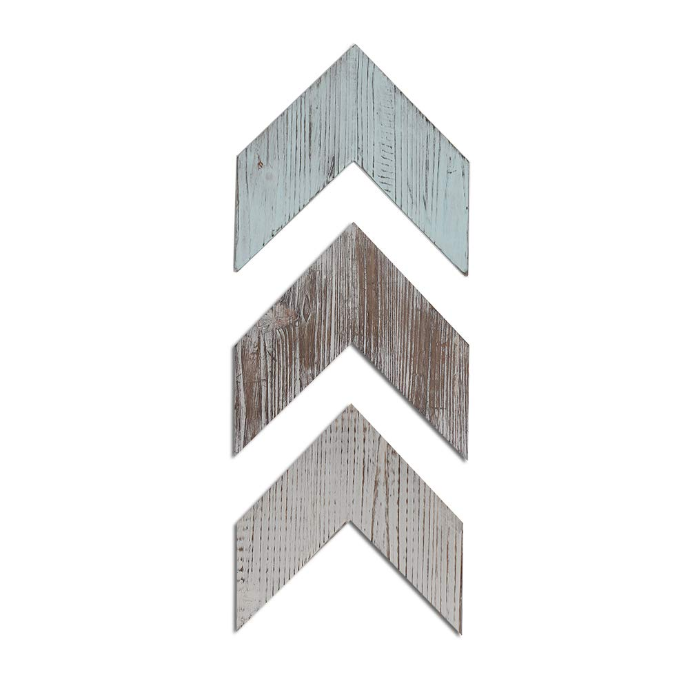 Farmhouse Decor Wood Arrows for Wall - Set of 3 Rustic Chevron Arrows Signs- Decorative Farmhouse Home Wall Hanging Decor