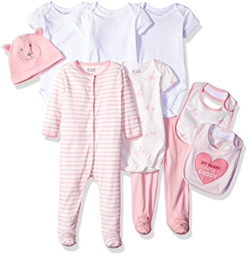 Layette Apparel (The Children's Place Baby Layette Set, Pink 77961, 6-9 Months)