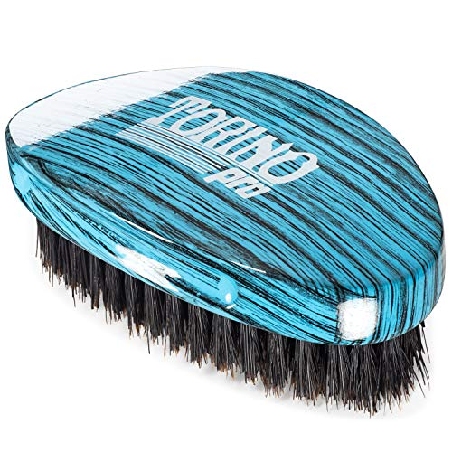 (Torino Pro Medium Hard Palm Curve Wave Brush By Brush King - #1770-360 Curved Medium Hard Palm - Great for Wolfing - For 360)