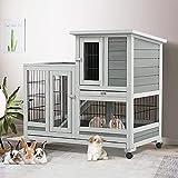 Esright Rabbit Hutch Pet House for Small Animals 37