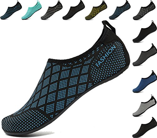 Mens Exercise Womens Aqua Swim Gridblue and Shoes Beach Barefoot Socks Water Surf AoSiFu Pool for Yoga q67vw