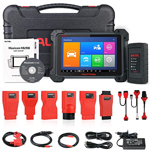 Autel MK908 Diagnostic Scanner (Upgraded MaxiSys MS908 MK808) with ECU Coding, Bi-Directional Control, with Fuel Injector/Fuel sync, Active Test, Key fob Programming,1 Year Free Software Update