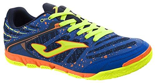 JOMA Super Regate, Zapatos de Futsal Unisex Adulto, Azul (Royal-Fluor), 36 EU