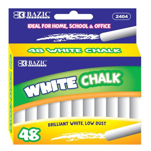 BAZIC Chalk, White, 48 Per Box