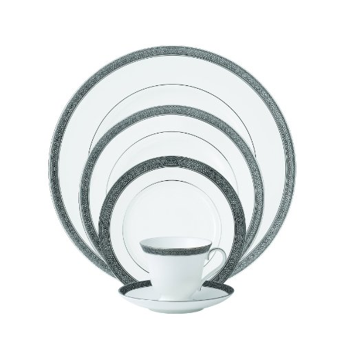 Waterford China Newgrange Platinum 5-Piece Place Setting (Platinum Teacup China)