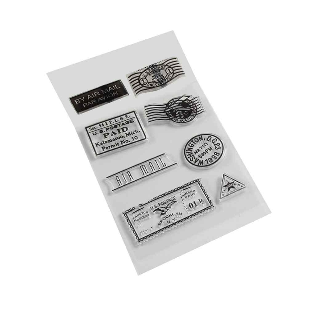 Forbestest Silicona PVC matasellos Transparente para la Tarjeta de Scrapbooking DIY Accesorios para Sellos