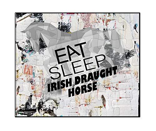 Irish Draft Horses - Makoroni - EAT Sleep Irish Draught Horse Horse Horses - Jigsaw Puzzle, 30 pcs.