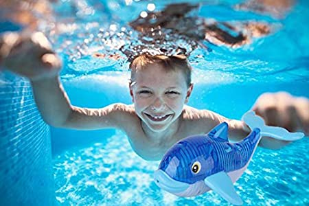Fish Sea Animal Toys and Games for Kids Consepcion Catch The Creatures Dive Toys Light Up Swimming Pool Toys Sinking Fish-Shaped Swim Toys