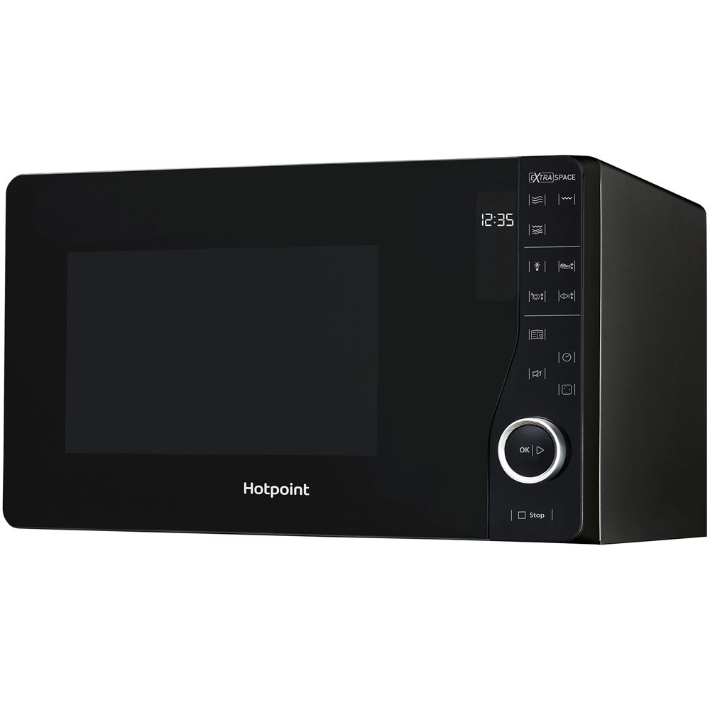Hotpoint MWH2622 MB Extra Space 800W Grill Microwave in Black